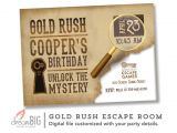Escape Room Party Invitation Ideas Escape Room Invite Boys or Girls Birthday Invitation