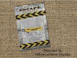 Escape Room Party Invitation Printable Escape Room Digital Printable Party Invitation Mystery