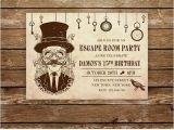 Escape Room Party Invitation Printable Escape Room Invitation Escape Room Party Printable