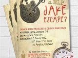 Escape Room Party Invitation Printable Escape Room Party Invitation Escape Room Party Escape Party