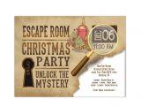 Escape Room Party Invitation Printable Holiday Escape Room Invite Printable Digital Pdf and Jpeg