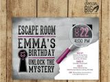 Escape Room Party Invitation Template Escape Room Invite Plus Thank You Card by Dreambigdesignsllc