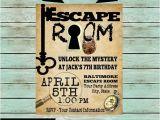 Escape Room Party Invitation Template Free Escape Room Mystery Puzzle Birthday Party Invitations
