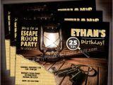 Escape Room Party Invitation Template Free Escape Room Party Invitations 5×7 4×6 Printable and