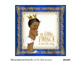 Ethnic Baby Shower Invitations Boy African American Prince Ethnic Boy Baby Shower Invitation