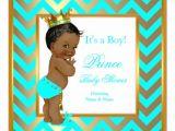 Ethnic Baby Shower Invitations Boy Prince Baby Shower Boy Gold Teal Blue Ethnic Invitation
