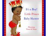 Ethnic Baby Shower Invitations Boy Prince Baby Shower Red White Blue Boy Ethnic Invitation