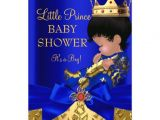 Ethnic Baby Shower Invitations Boy Royal Blue Red Gold Prince Boy Baby Shower Ethnic 5×7