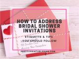 Etiquette for Bridal Shower Invitations How to Address Bridal Shower Invitations