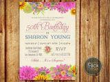 Etsy 60th Birthday Invitations 40th 50th 60th 70th Birthday Invitation Woman Birthday
