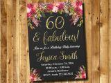 Etsy 60th Birthday Invitations 60th Birthday Invitation Watercolor Flowers Invitation