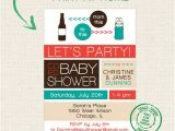 Etsy Coed Baby Shower Invites Items Similar to Printable Co Ed Baby Shower Beer Bottle