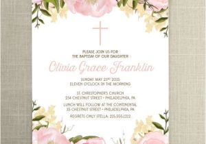Etsy Girl Baptism Invites 1000 Ideas About Baptism Invitations On Pinterest