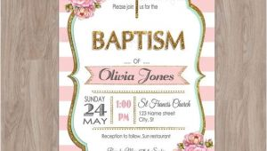 Etsy Girl Baptism Invites Baptism Invitation Girl Baptism Invitation by Damabdigital