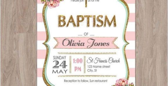 Etsy Girl Baptism Invites Baptism Invitation Girl Baptism Invitation by Damabdigital