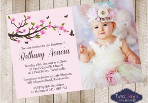 Etsy Girl Baptism Invites Christening Invitation Girl Baptism by Tweetpartyboutique