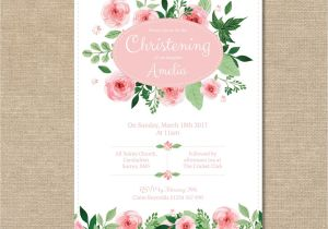 Etsy Girl Baptism Invites Christening Invitation Girls Baby Babies Childrens Shabby