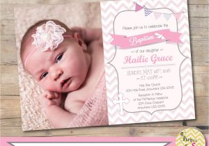 Etsy Girl Baptism Invites Girl Baptism Invitation Christening Invite Personalized