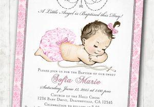 Etsy Girl Baptism Invites Vintage Christening Invitation Christening Invitations for