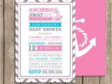 Etsy Nautical Baby Shower Invitations Anchors Away Girl Nautical Baby Shower by Palmbeachprints