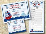 Etsy Nautical Baby Shower Invitations Nautical Baby Boy Shower Invitation Set