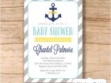 Etsy Nautical Baby Shower Invitations Nautical Baby Shower Invitation Anchor by Sweetprovidence