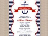 Etsy Nautical Baby Shower Invitations Nautical Baby Shower Invitation In Red and Blue by Honeyprint
