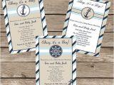 Etsy Nautical Baby Shower Invitations Nautical Baby Shower Invitation Printable by Taowithlove