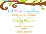 Etsy Owl Baby Shower Invitations Items Similar to Owl Baby Shower Invitation On Etsy
