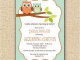 Etsy Owl Baby Shower Invitations Items Similar to Owl Baby Shower Invitations Diy
