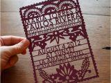 Etsy Papel Picado Wedding Invitations Items Similar to Papel Picado Laser Cut Wedding Invitation