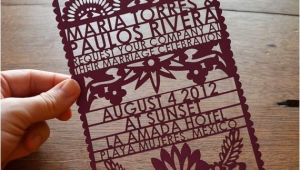 Etsy Papel Picado Wedding Invitations Items Similar to Papel Picado Laser Cut Wedding Invitation