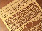 Etsy Papel Picado Wedding Invitations Laser Cut Invitation Papel Picado Inspired Wedding 5×7