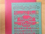Etsy Papel Picado Wedding Invitations Nuestra Boda Papel Picado Inspired Wedding Invitation