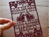 Etsy Papel Picado Wedding Invitations Papel Picado Laser Cut Save the Date Meandyoulookbook