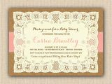 Etsy Rustic Bridal Shower Invitations Rustic Baby Girl Shower Invitations Diy Printable Lace
