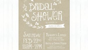 Etsy Rustic Bridal Shower Invitations Rustic Bridal Shower Invitations