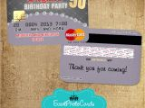 Event Photo Cards Party Invitations 50 Birthday Party Invitations Credit Card