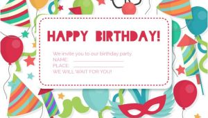 Example Invitation Card About Birthday Party 41 Birthday Invitation Designs Psd Ai Free Premium