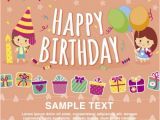 Example Invitation Card Happy Birthday 32 Kids Birthday Invitations Ideas Psd Vector Eps