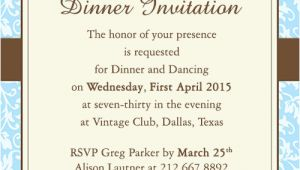 Example Invitation Dinner Party Fab Dinner Party Invitation Wording Examples You Can Use