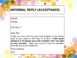 Example Letter to Accept A Birthday Party Invitation formal and Informal Invitation Kls 11 Kurikulum 2013