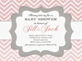 Example Of A Baby Shower Invitation In the Chou S Nest Girl Baby Shower Invitations