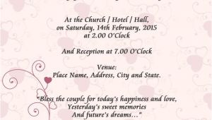 Example Of A Wedding Invitation Card Sample Wedding Card Invitation In 2019