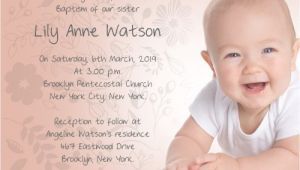 Example Of Baptism Invitation Baptism Invitation Wording – Gangcraft