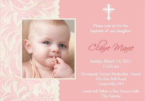 Example Of Baptismal Invitation Baptism Invitation Baptism Invitations for Girl