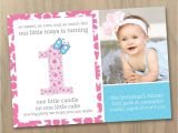 Example Of First Birthday Invitation Card 1st Birthday Invitations Girl My World 1st Birthday