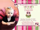 Example Of First Birthday Invitation Card Owl 1st Birthday Invitations Ideas Free Printable