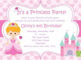 Example Of Invitation Card for Birthday Princess Birthday Party Invitations Princess Birthday