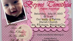 Example Of Invitation Card for Christening and Birthday Invitation Card for Christening Invitation Card for